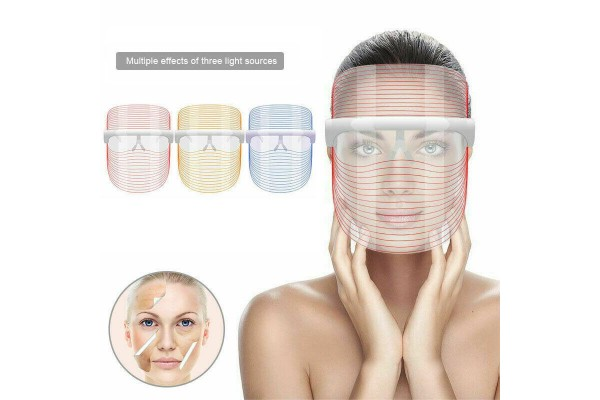 Μάσκα προσώπου LED για άνδρες και γυναίκες 3 χρωμάτων φωτός κατά της ακμής