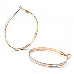 Σκουλαρίκια επίχρυσα Hoop Earrings 6,4γρ