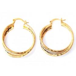 Σκουλαρίκια επίχρυσα Hoop Earrings 8γρ