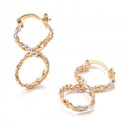 Σκουλαρίκια επίχρυσα Hoop Earrings 3,5γρ