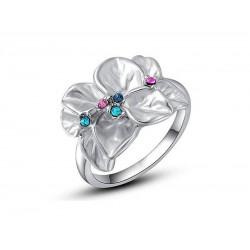 Δαχτυλίδι επάργυρο Austrian Crystal Petals (μέγεθος 6)