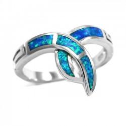 Γυναικείο Δαχτυλίδι Ασημένιο Οπάλιο  Μέγεθος:7