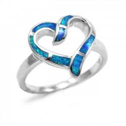Γυναικείο Δαχτυλίδι Ασημένιο Καρδιά