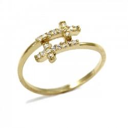 Γυναικείο Δαχτυλίδι Ασημένιο Σταυροί
