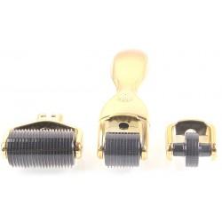 Derma Roller 3σε1set Titanium Gold Ρόλερ Τιτανίου