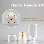 HYDRA Derma 20 Titanium GOLD plated 0.25mm μεσοθεραπεία